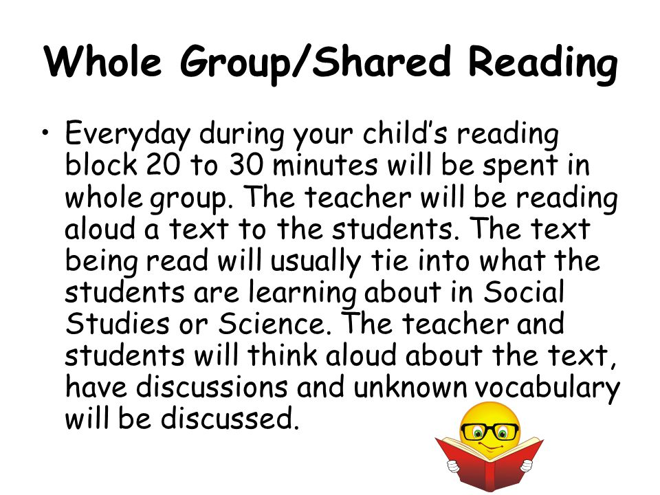 Whole Group/Shared Reading