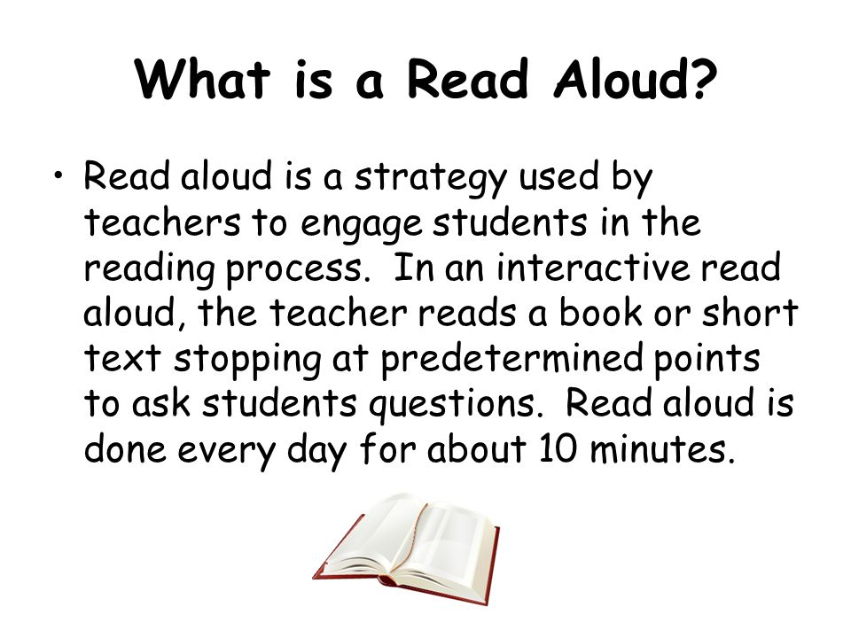 What is a Read Aloud