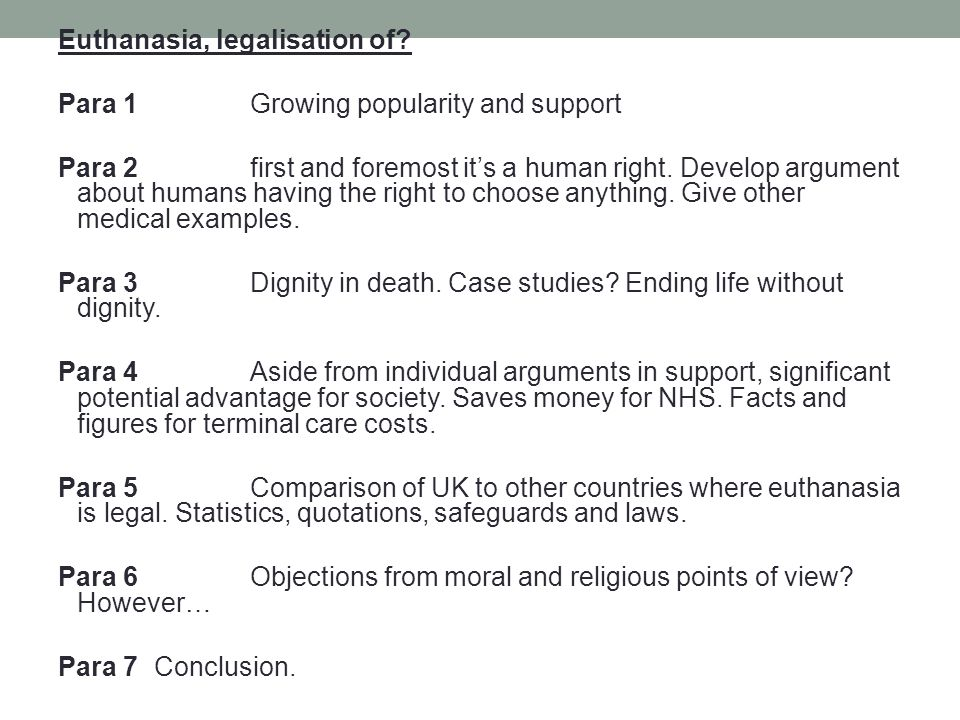 structuring your argument ppt  12 euthanasia
