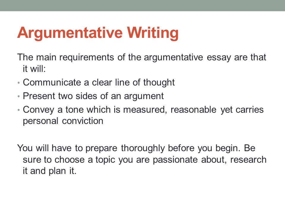 Two sides in an argumentative essay youtube