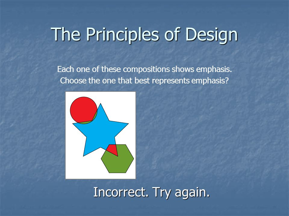 The Principles of Design