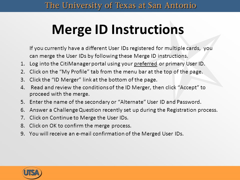 Merge ID Instructions