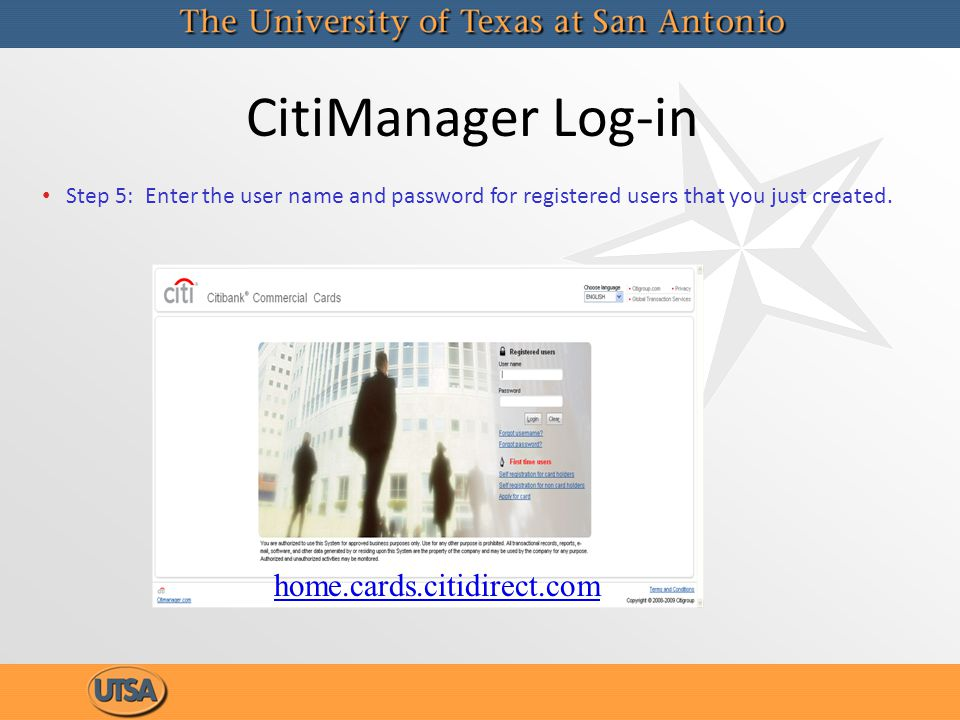 CitiManager Log-in home.cards.citidirect.com