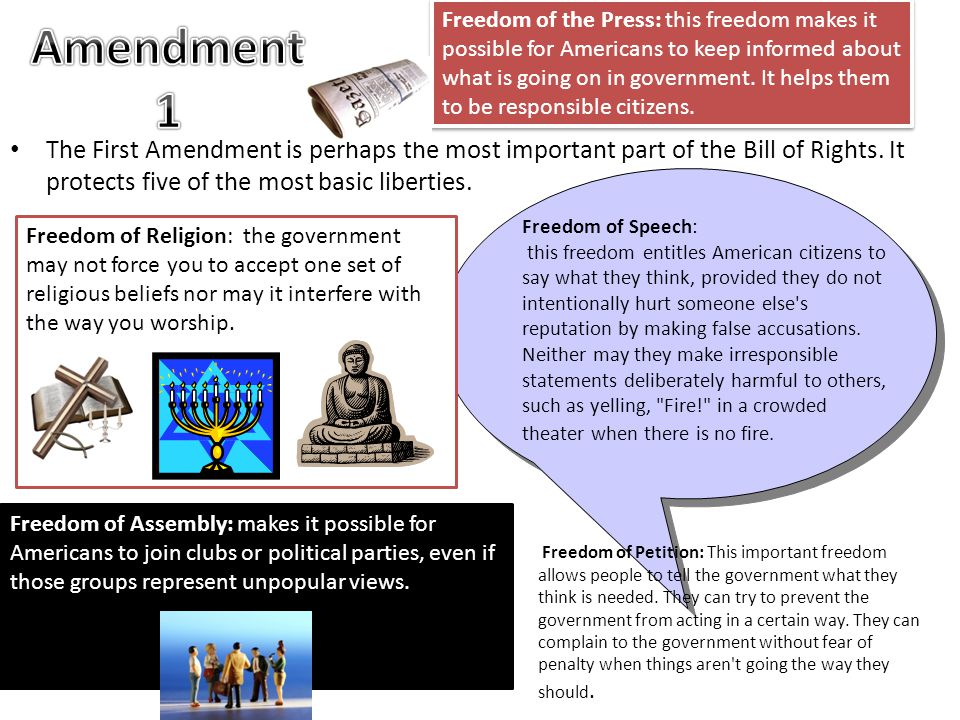 the most important amendments and why Of all of the rights provided by the bill of rights, which are the five most important and why among the amendments 1 to 10 of constitution, i suppose amendment 1, 3, 6, 8, 10 these amendments are made according to the basic principles: democracy and equality.