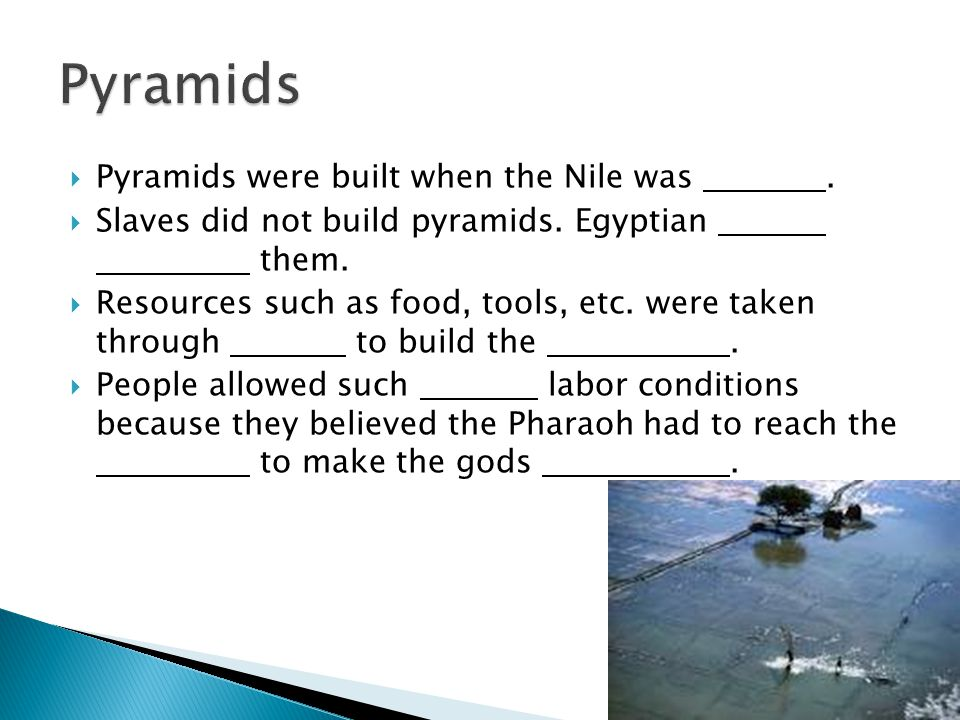 did slaves build the great pyramids Aliens did not build the pyramids there is the distinct possibility that life exists somewhere else in the universe, but it is not visiting us, creating crop circles, or mutilating cattle cylon betty 1 decade ago.
