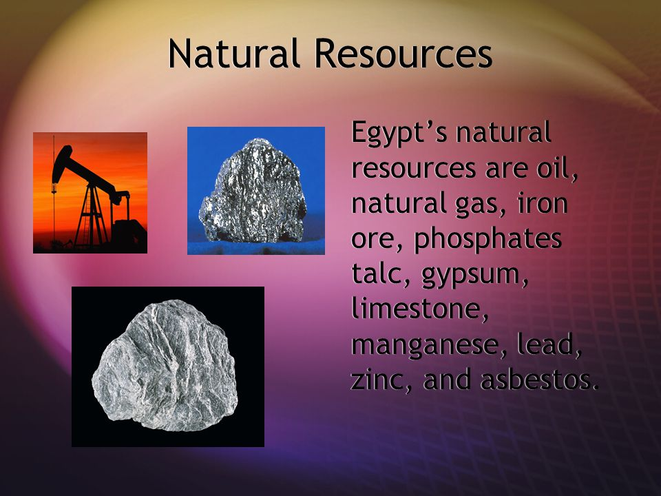 Egypt Home Of The Pyramids Ppt Video Online Download - Natural resources in egypt