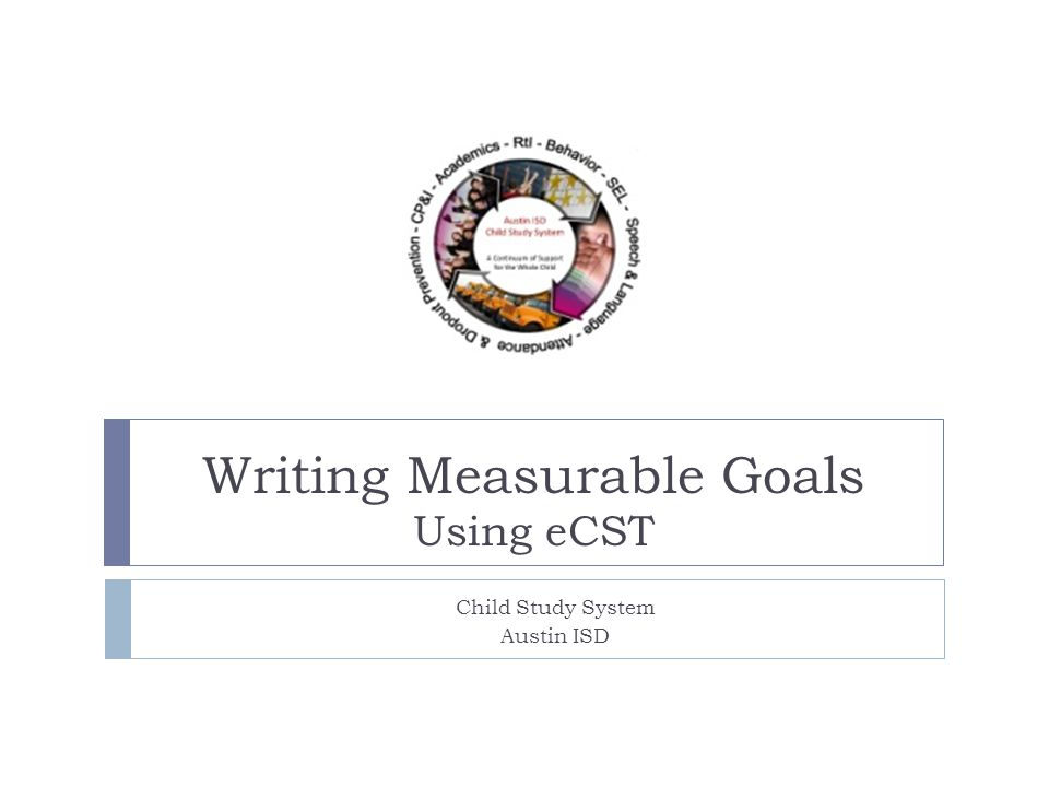 writing measurable goals