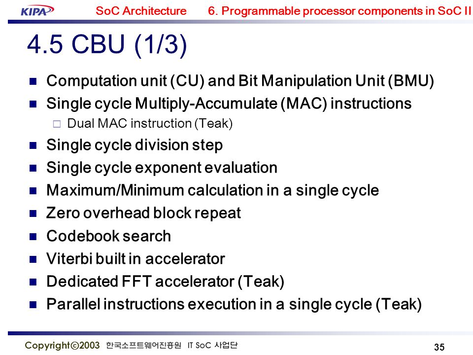 module 6  programmable components in soc ii