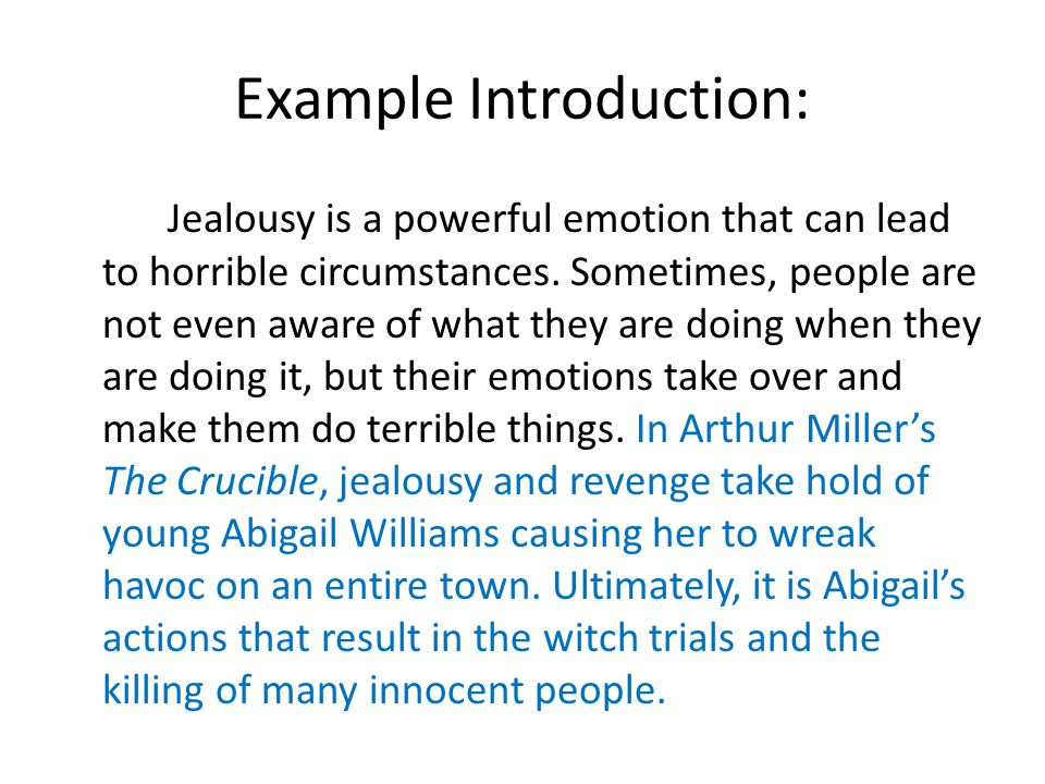 paragraph on jealousy Jealousy and conflict within relationships essays jealousy is an emotional response to a perceived or real threat to an important or valued relationship in many.