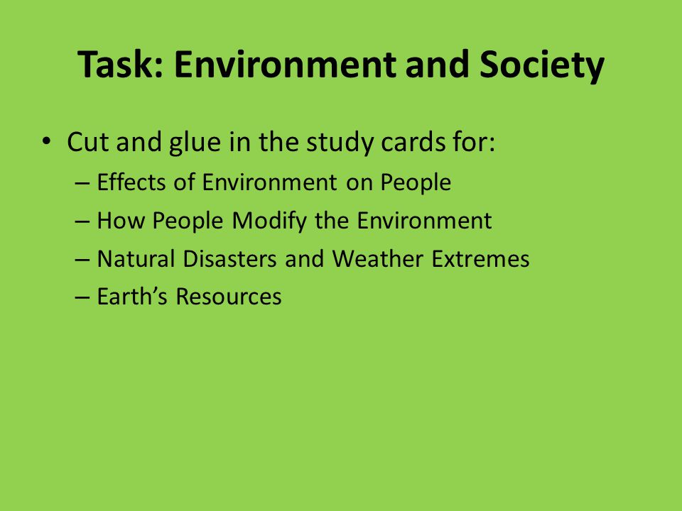 society and environment resources This section on the globalissuesorg web site provides an insight into deeper issues of consumption and consumerism  environment, society,  resources, society.