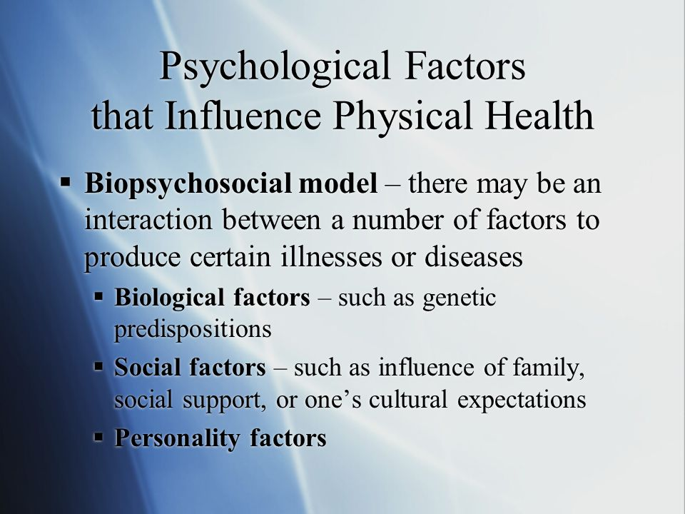 the psychological biological and cultural factors Factors influencing the development of alcohol dependence psychological factors and socio-cultural factors there are two primary biological or genetic factors that influence alcohol consumption behaviour and the development of alcoholism.