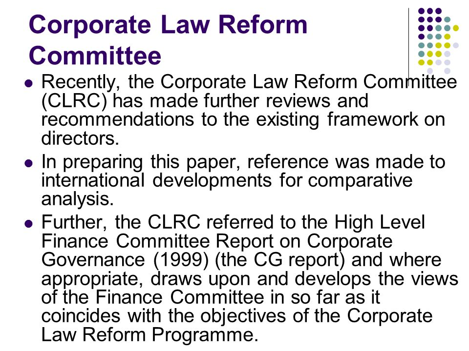 corporate law and governance essay Essays on law and corporate governance lan luh luh national university of singapore 2005 essays on law and literature this dissertation consists of three essays that explore the theoretical application of legal theories and models of corporation and corporate governance and provide empirical evidence.