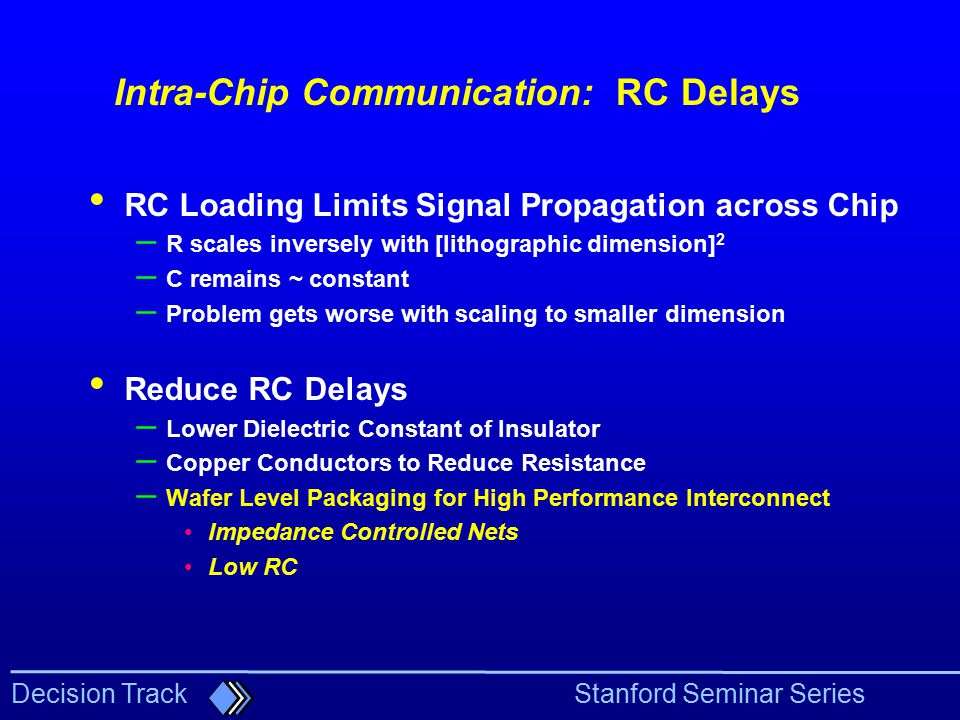 Intra-Chip Communication: RC Delays