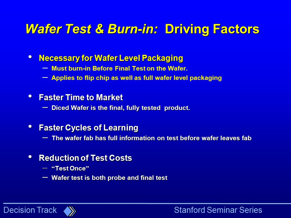 Wafer Test & Burn-in: Driving Factors