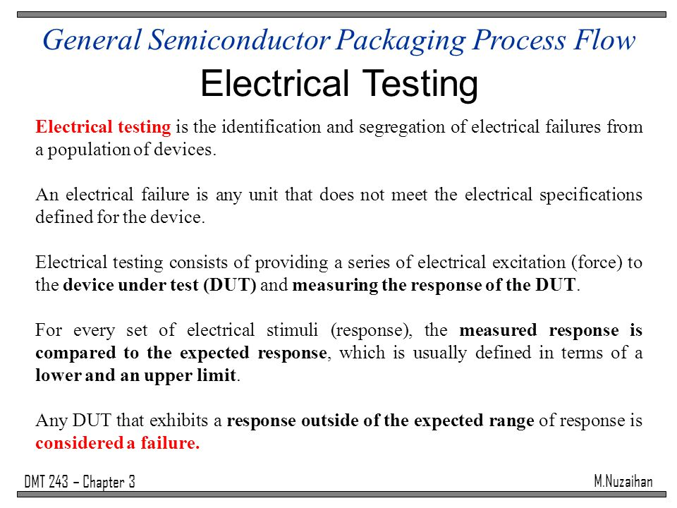 Semiconductor Testing Device : General semiconductor packaging process flow ppt video