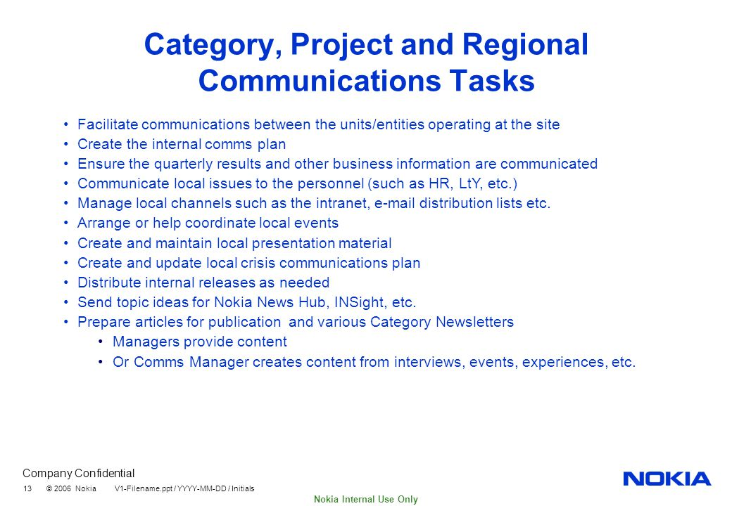 An Analysis of Nokia's Communications Strategies