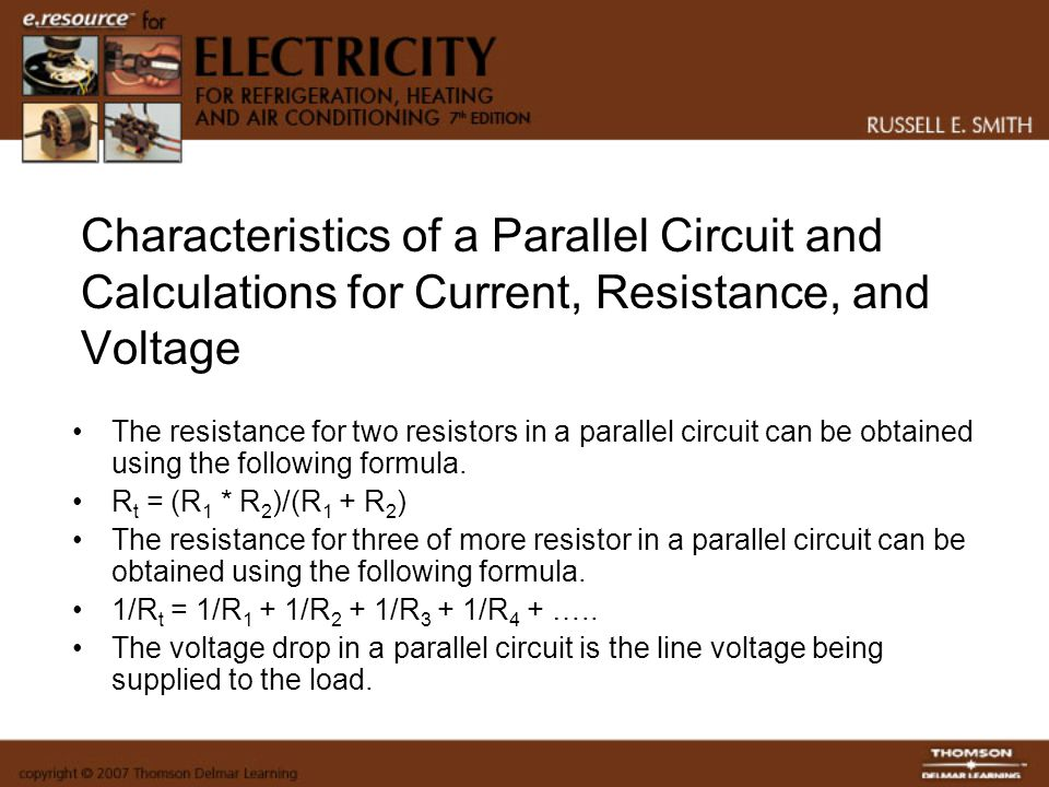 Characteristics of a Parallel Circuit and Calculations for Current, Resistance, and Voltage