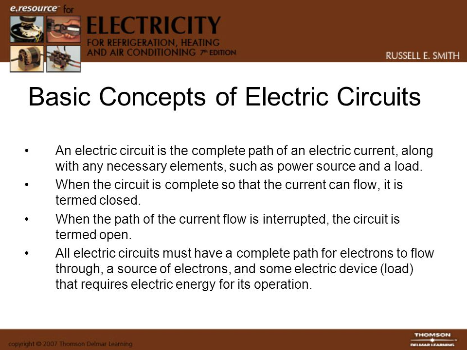Basic Concepts of Electric Circuits