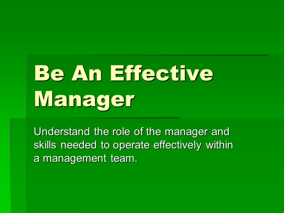 role of an effective manager The committee's role is to approve the charter, secure resources, and adjudicate all requests to change key project elements, such as deliverables, the schedule, and the budget.