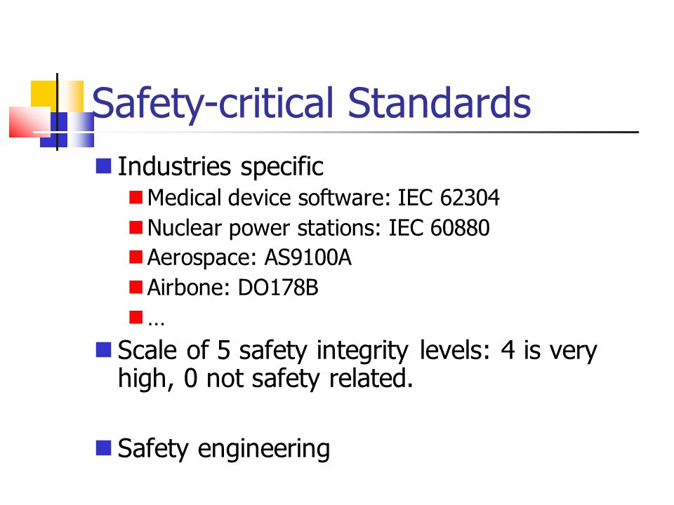 Safety-critical Standards