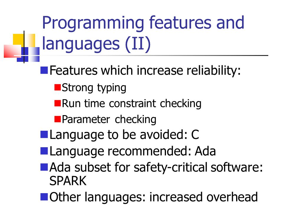 Programming features and languages (II)