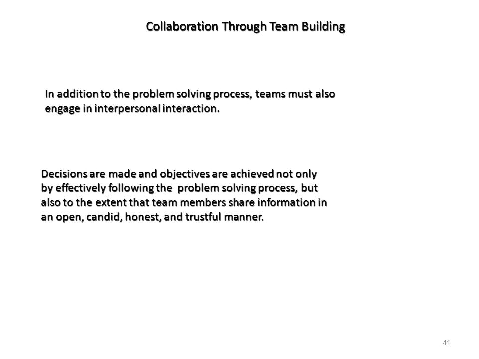collaboration problem solving and team members Problem solving and decision making  how to improve teamwork and collaboration in your  team members and leaders alike.