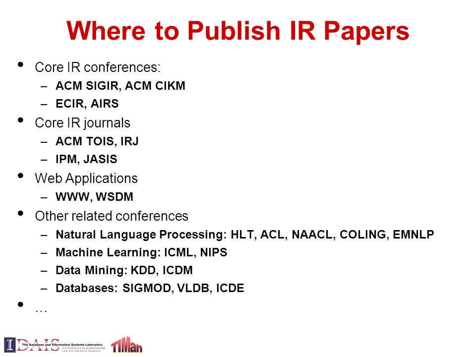 Where to publish your research paper