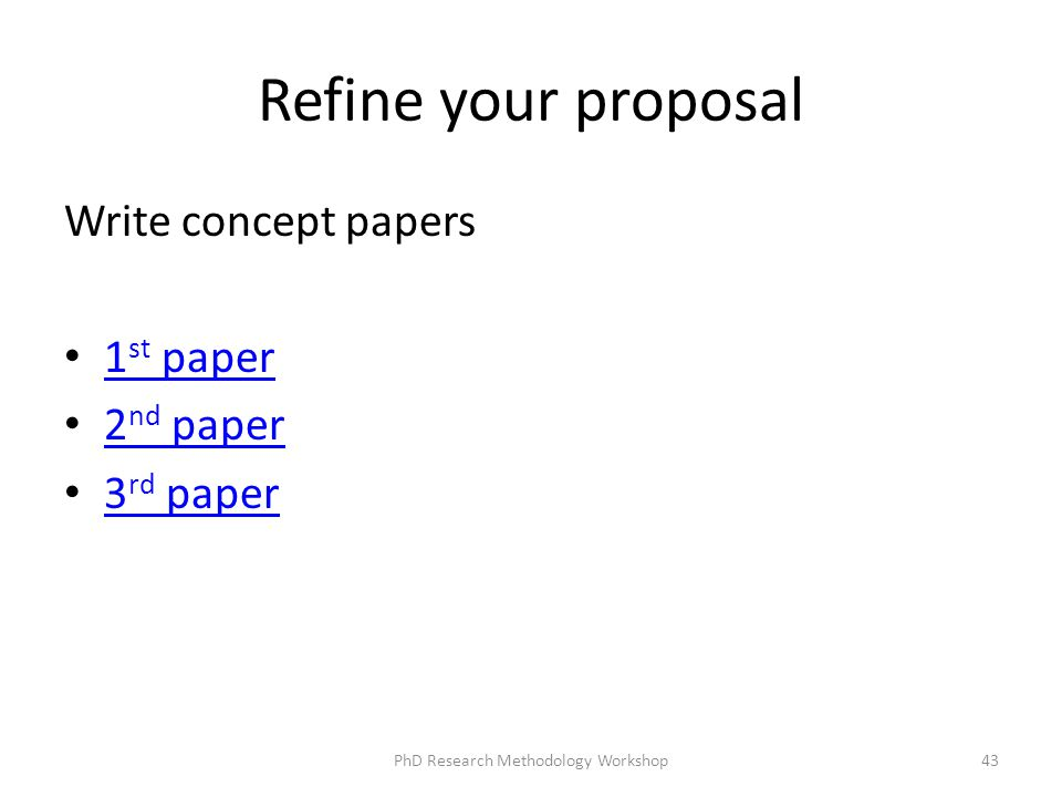 write concept paper research proposal Cricos provider 00123m guide to writing your research proposal for higher degree by research applicants all prospective higher degree by research.