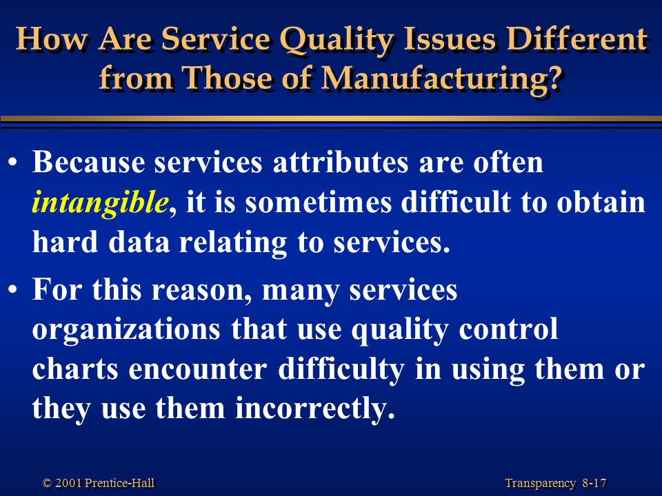 importance of quality in different manufacturing 122 quality assurance in the mass production stage   define important  themes for realizing ctq (critical to quality, commitment) from the standpoints of  voc  experiments are performed using different design factors (control factors.