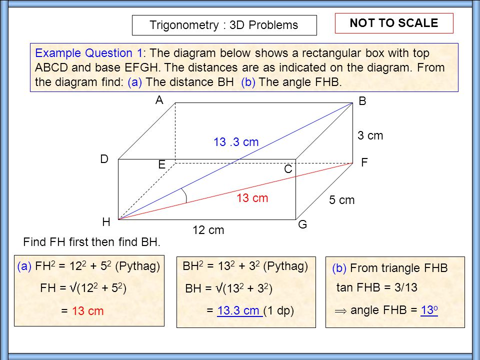 Trigonometry 3d Problems Ppt Video Online Download
