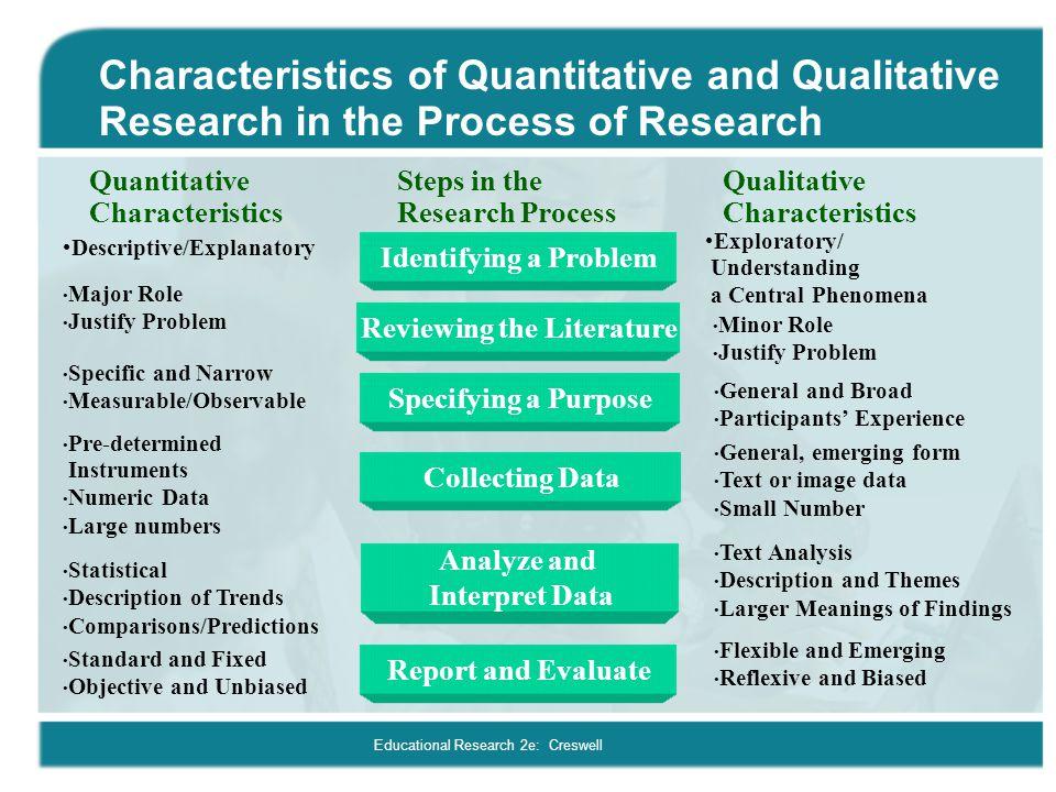 describe qualitative and quantitative research