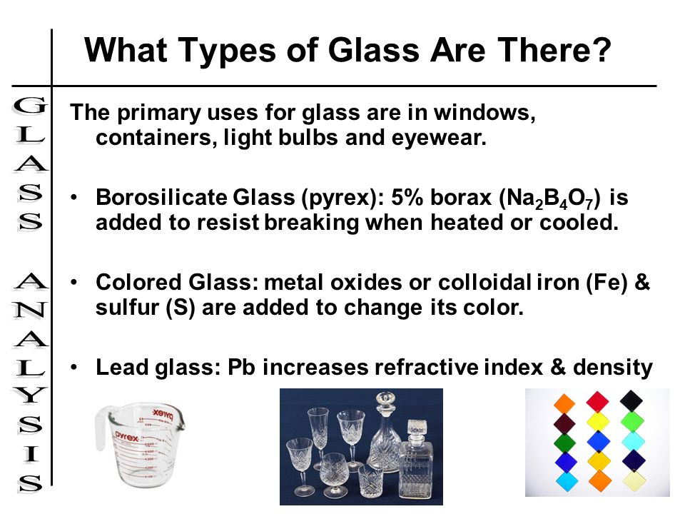 what types of glass are there