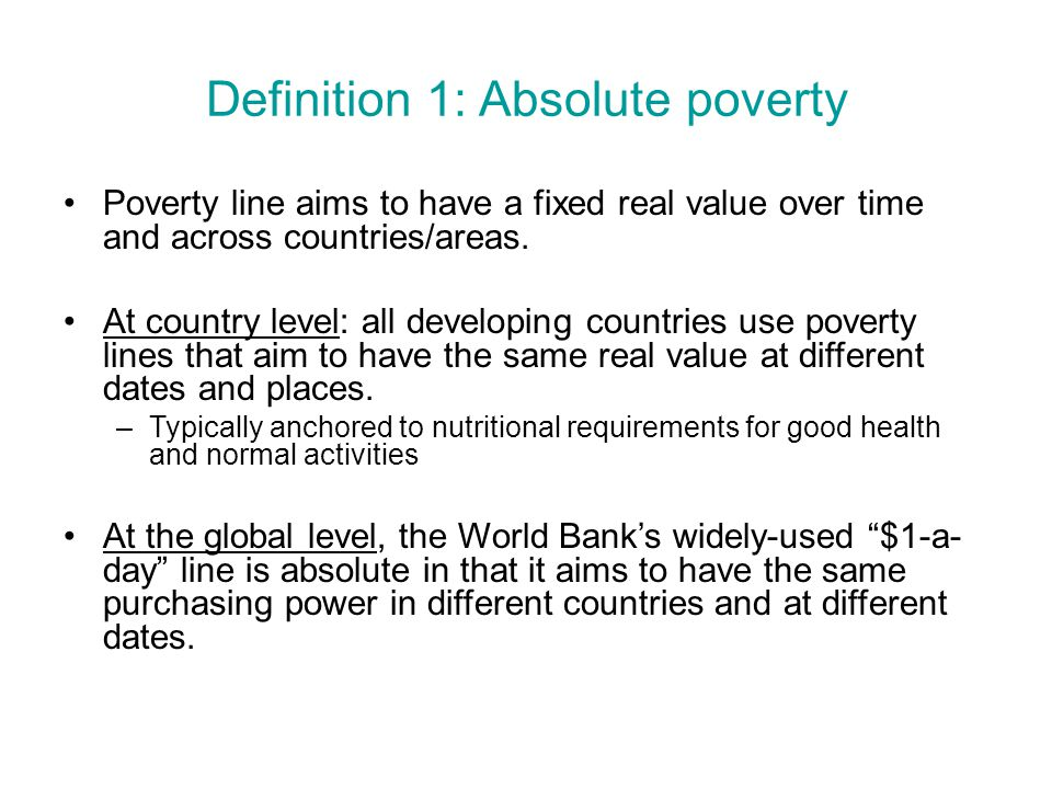 absolute poverty and relative poverty Difference between absolute and relative - download as word doc (doc / docx), pdf file (pdf), text file (txt) or read online.