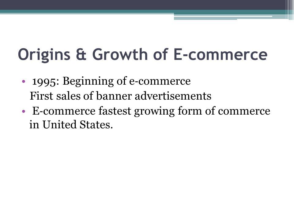 Origins & Growth of E-commerce