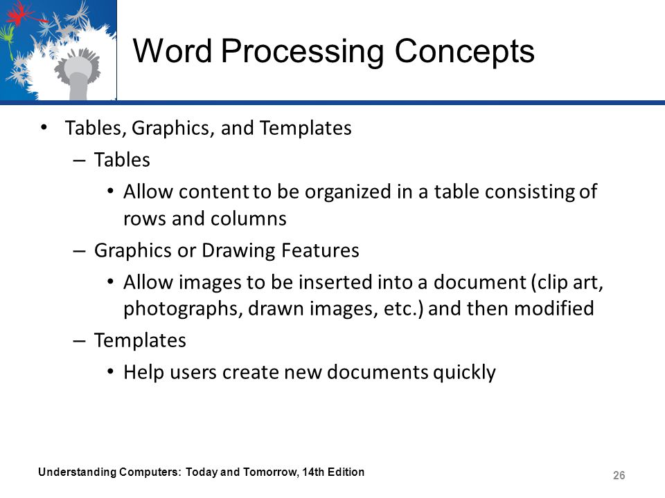 Word Processing Concepts