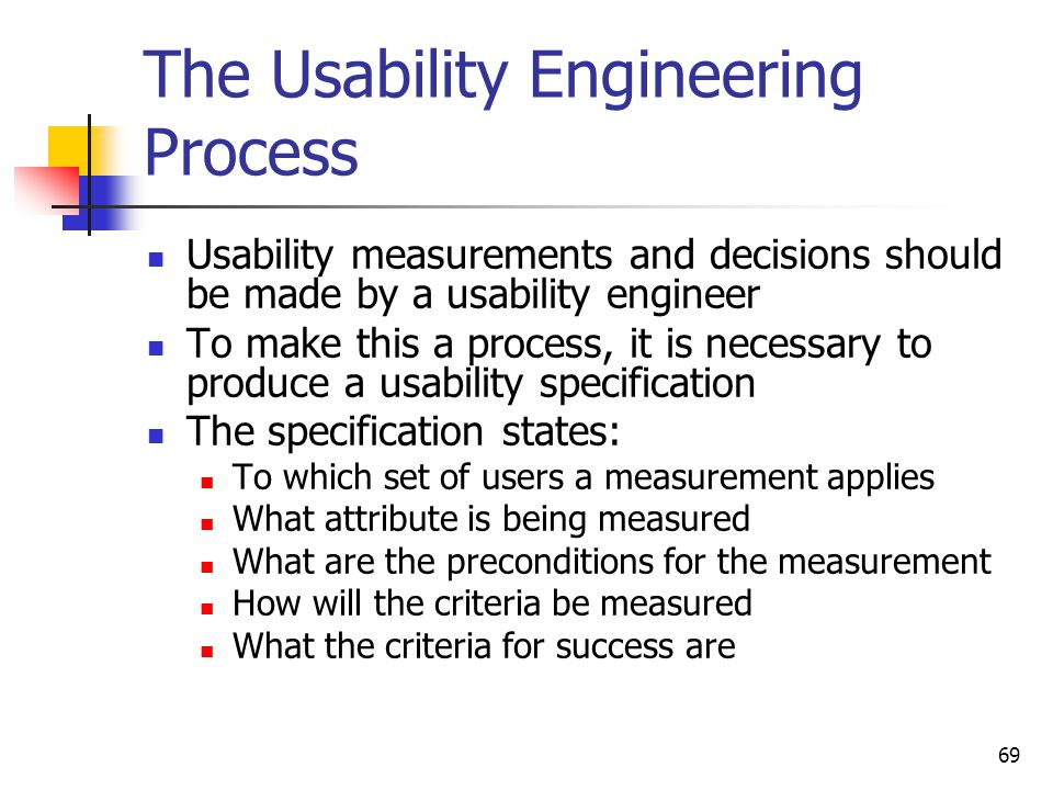 the usability engineering process usability engineer