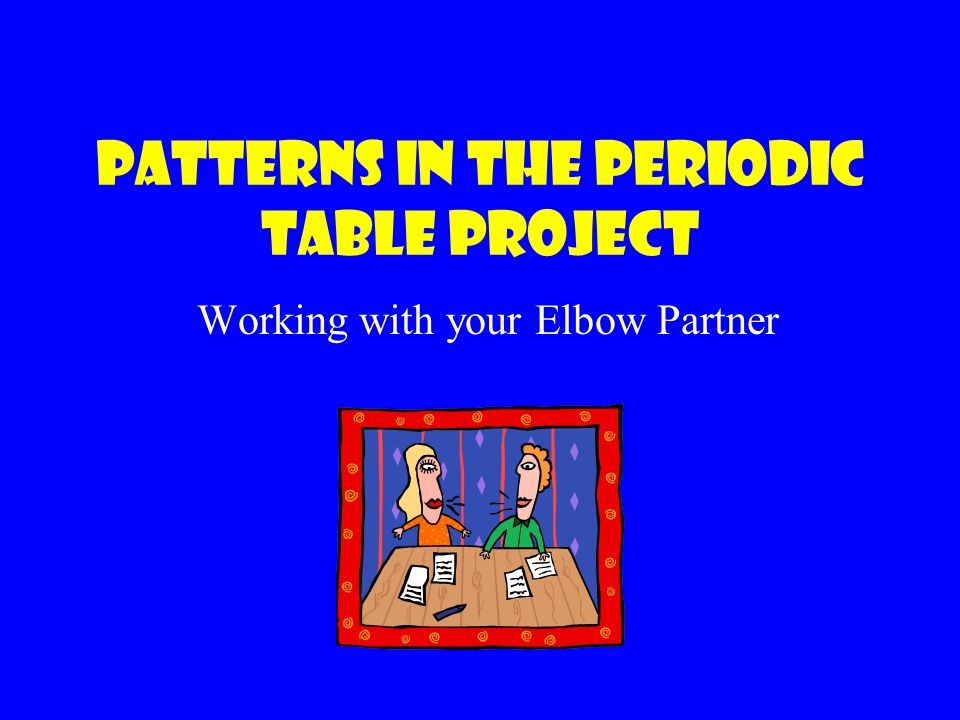 patterns in the periodic table project