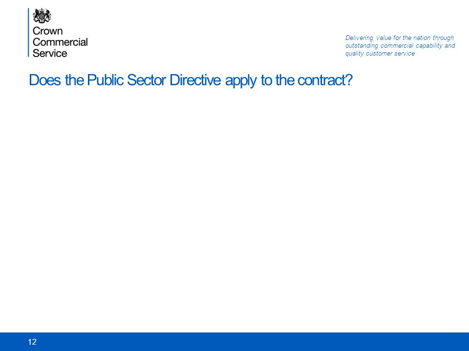 Does the Public Sector Directive apply to the contract