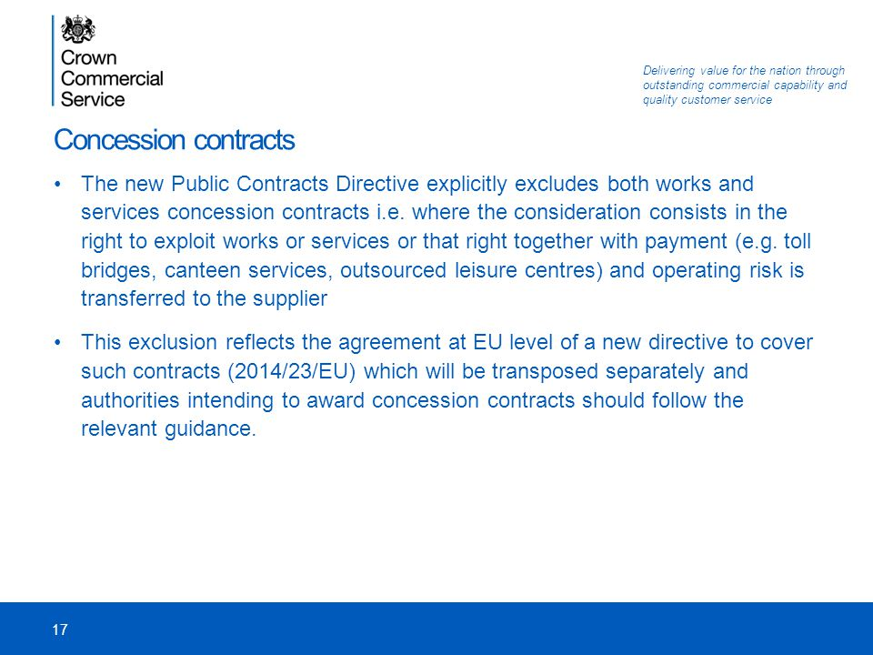 Concession contracts