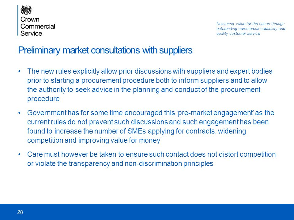 Preliminary market consultations with suppliers