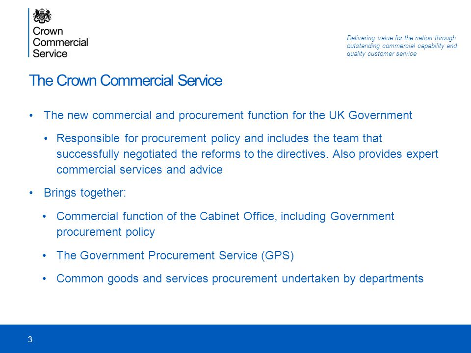 The Crown Commercial Service