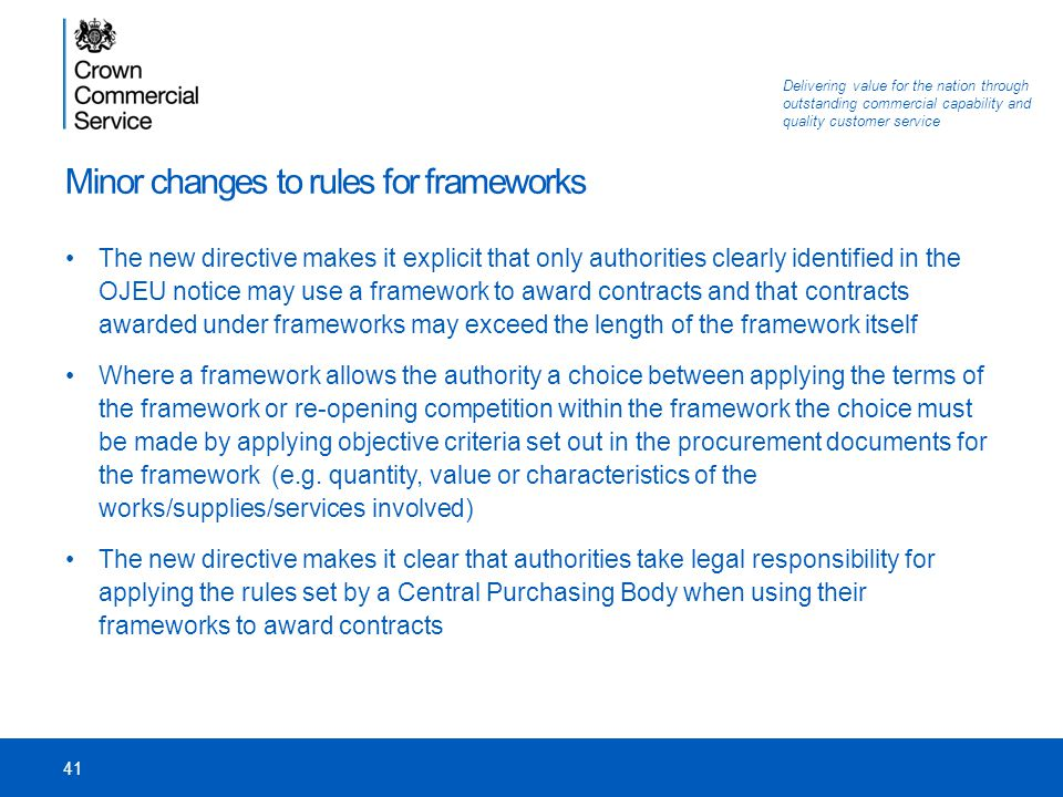 Minor changes to rules for frameworks