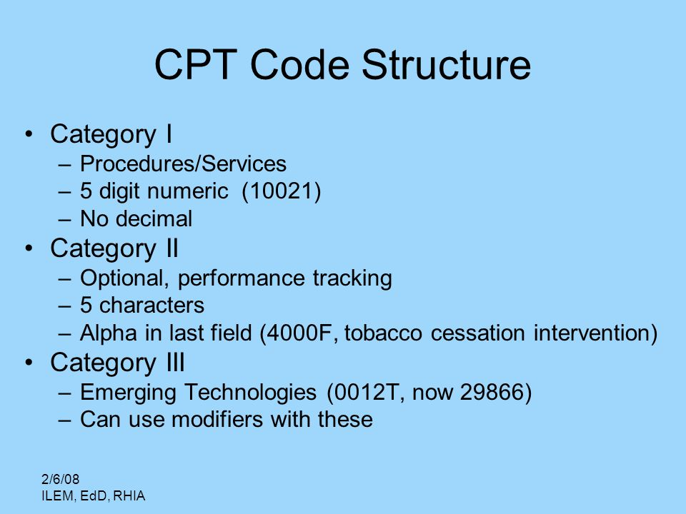 cpt coding categories Cpt category i vaccine codes last updated july 1, 2016 electronic release and 2017 cpt code set publication to include two us vaccine abbreviations.