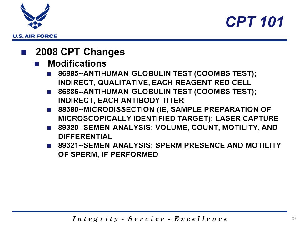 What Every USAF Laboratorian Should Know - ppt download of Molecular cpt code list