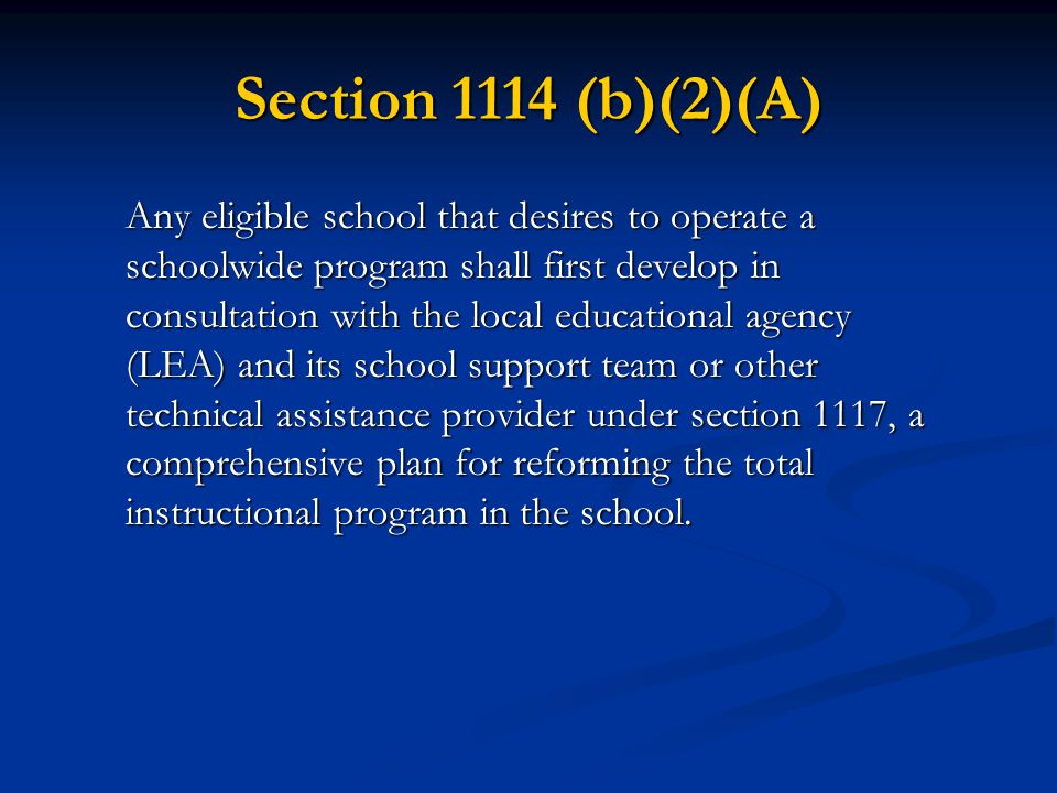 Section 1114 (b)(2)(A)