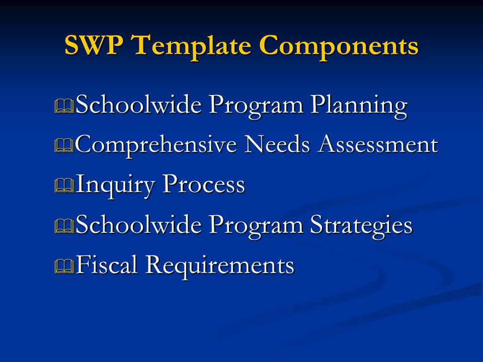SWP Template Components