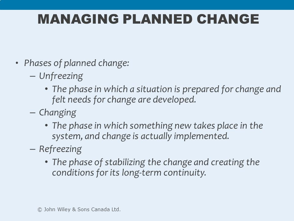 the phases of organizational change Change is necessary for organizations to innovate, evolve and grow in harvard  business  stage 1: preparing the organization for change.