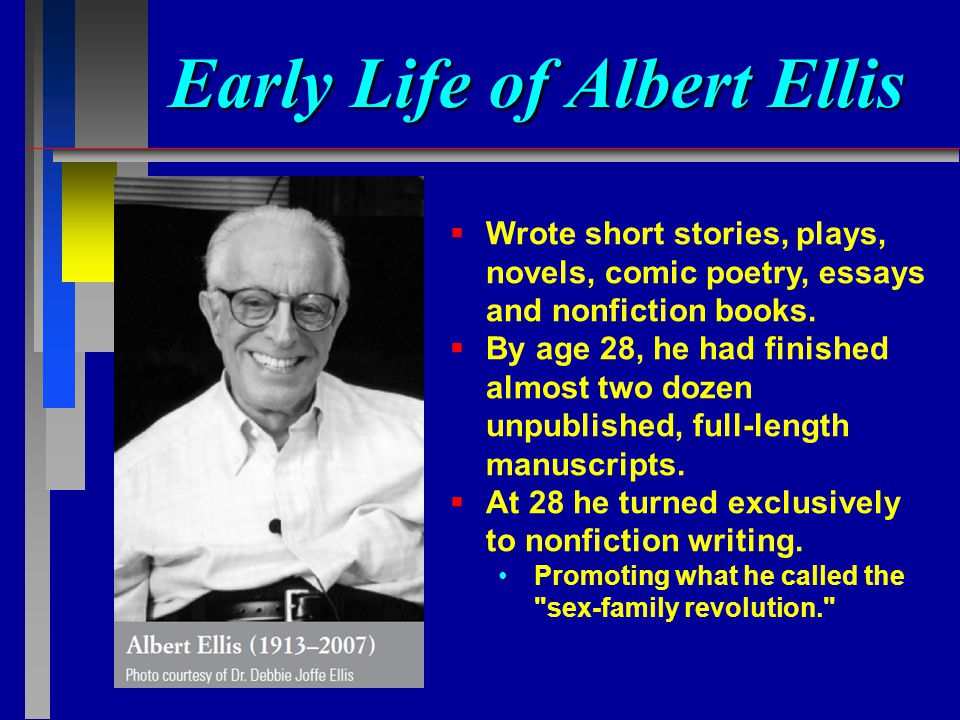 An essay on albert ellis and william glasser