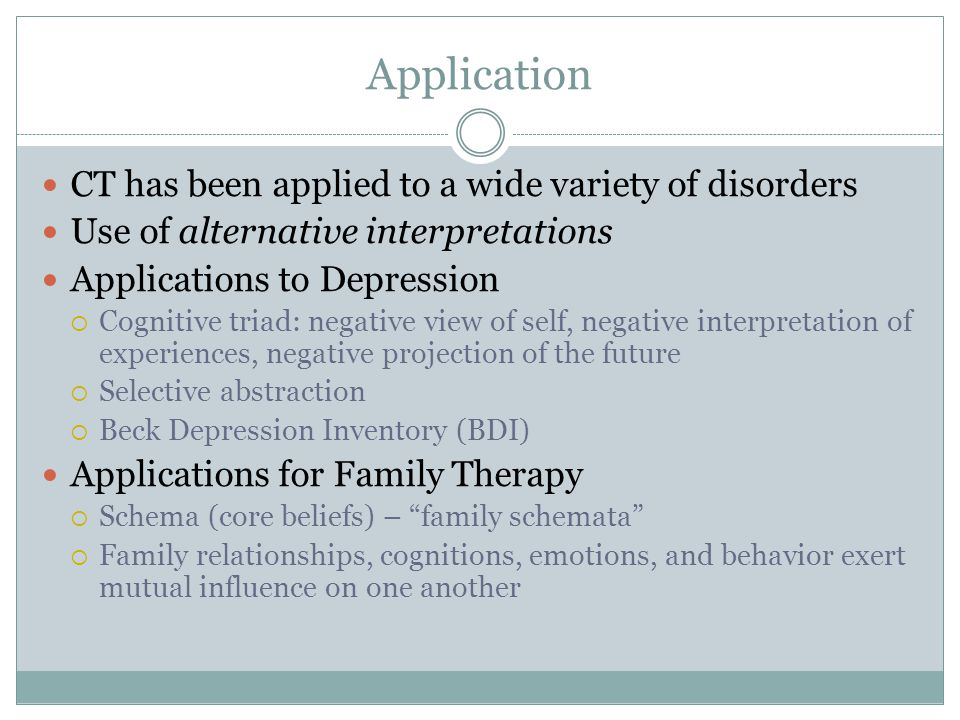 Application CT has been applied to a wide variety of disorders