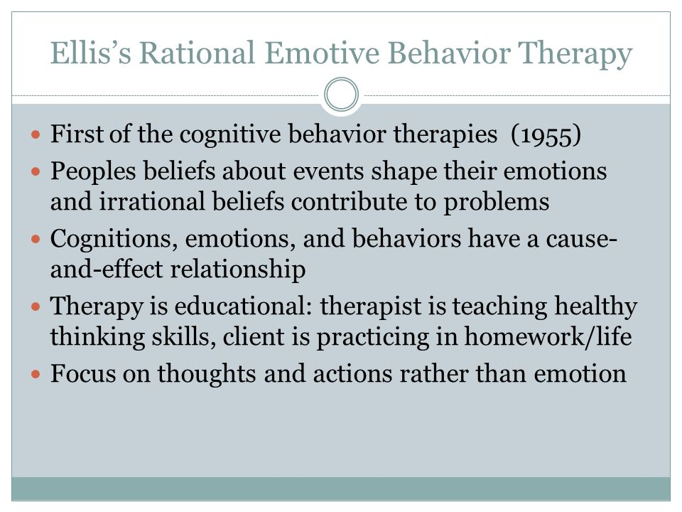Ellis's Rational Emotive Behavior Therapy